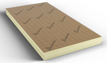 PIR Boards covered with paper KRAFT